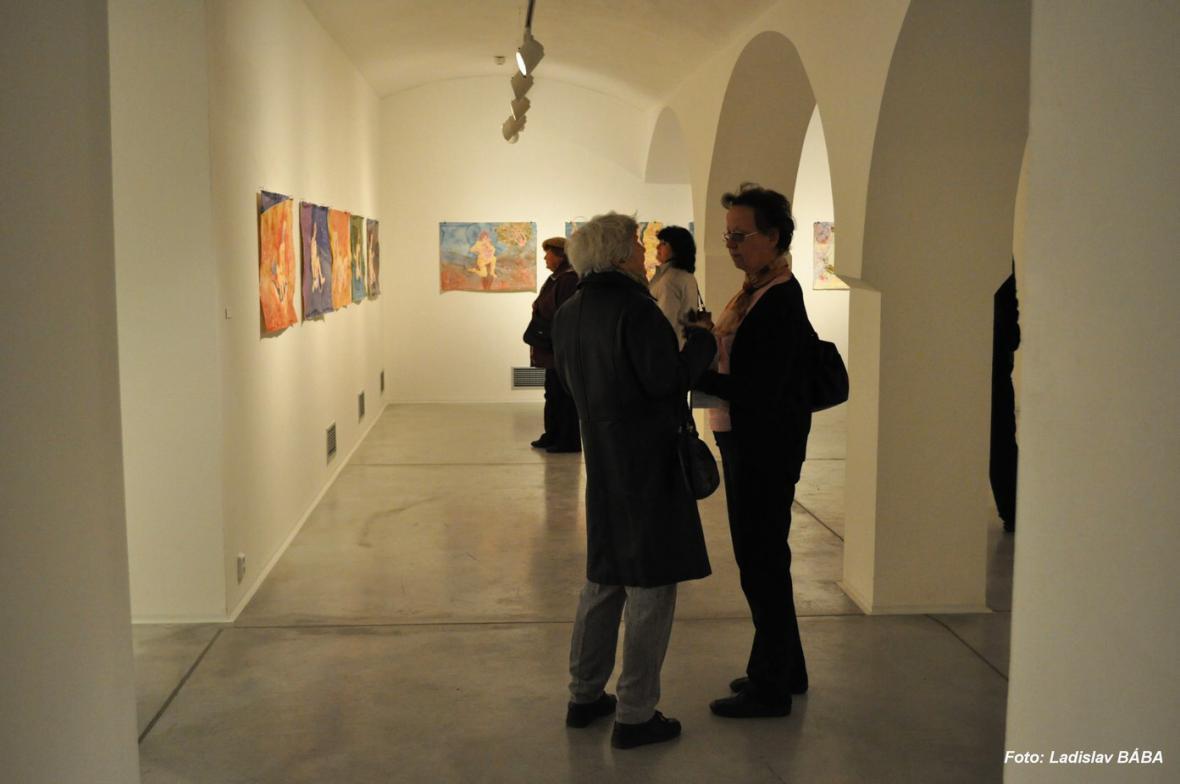 Z vernisáže výstavy Tomáše Císařovského v Lounech