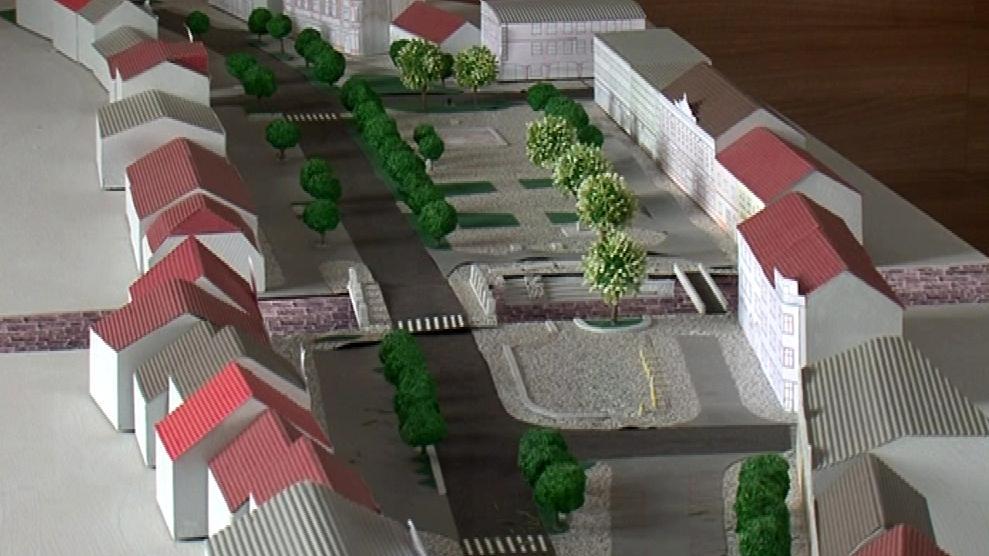 Návrh letovického náměstí po rekonstrukci