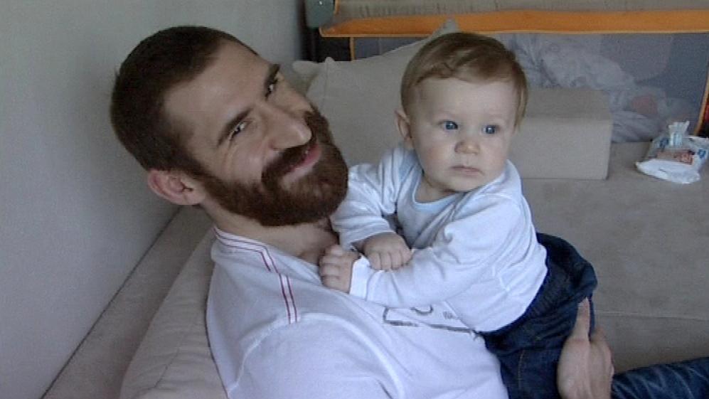 Hokejista Jiří Vašíček se synem