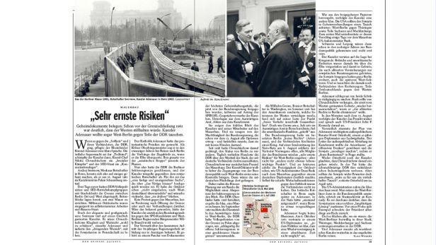 Der Spiegel o plánu Konrada Adenauera