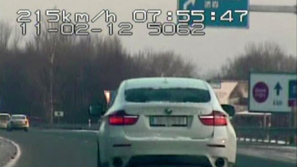 Záběry z policejní honičky (záběry Policie ČR