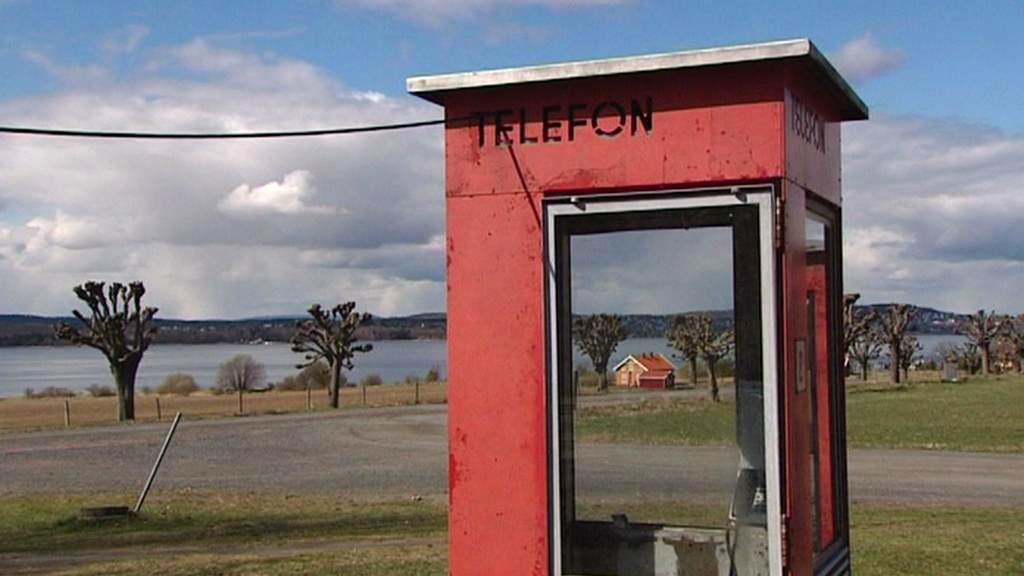Telefonní budky pro vězně na ostrově Bastøy