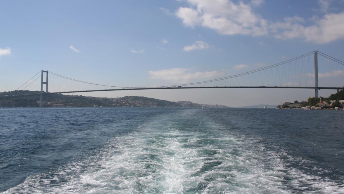 Most přes Bospor v Istanbulu