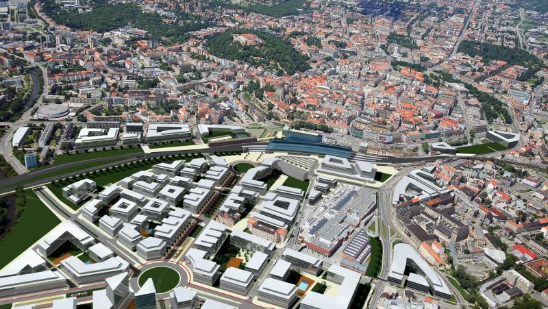 Představa koalice Nádraží v centru