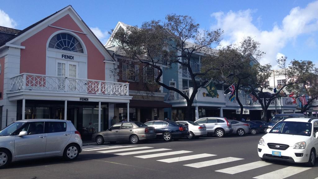 Typická ulice v Nassau