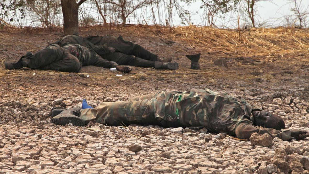 Mrtví súdánští vojáci