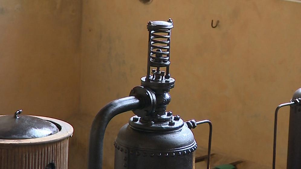 Detail zařízení vodárny