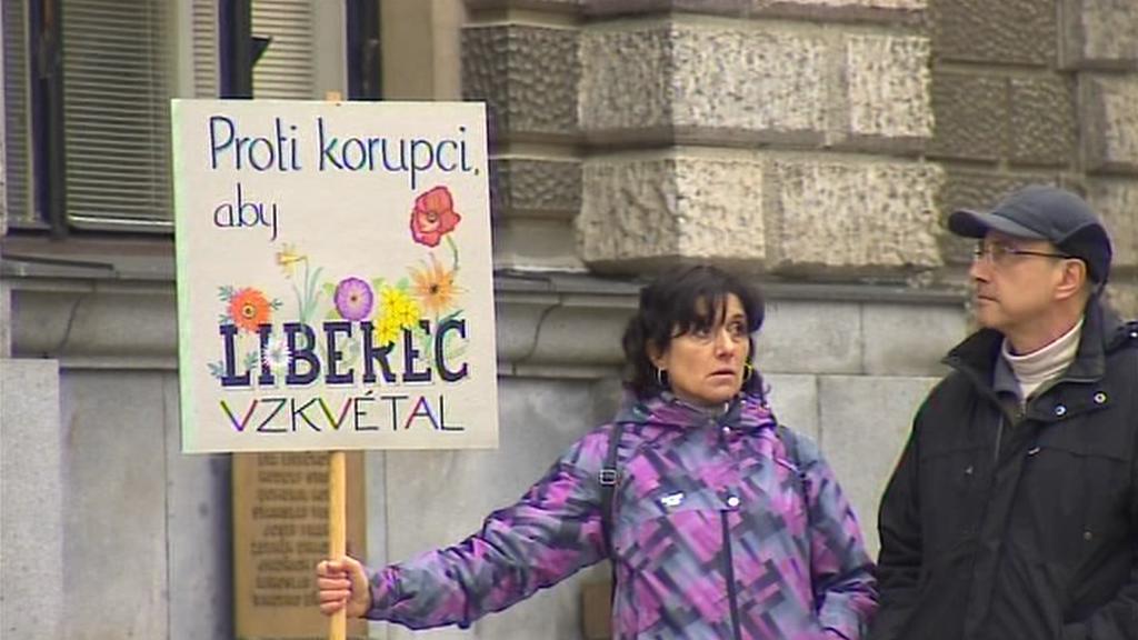 Demonstrace v Liberci