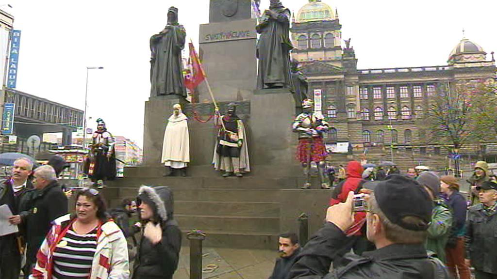 Blaničtí rytíři na Václavském náměstí