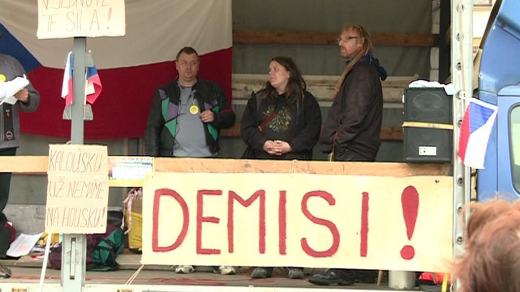 Protest Holešovské výzvy v Olomouci