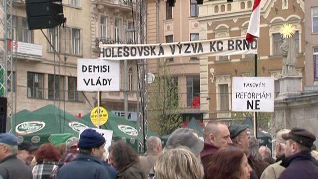 Protest Holešovské výzvy v Brně