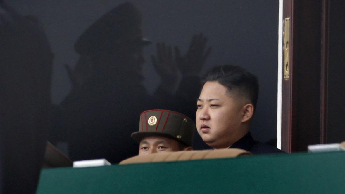 Kim Čong-un během oslav narozenin Kim Ir-sena