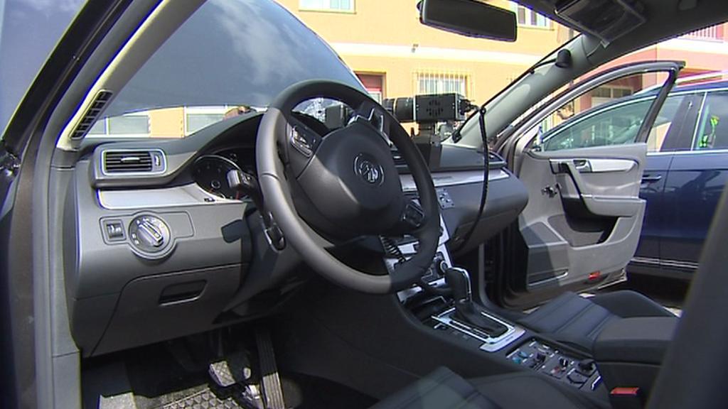 Interiér nového Volkswagenu Passat pro účely ústecké policie