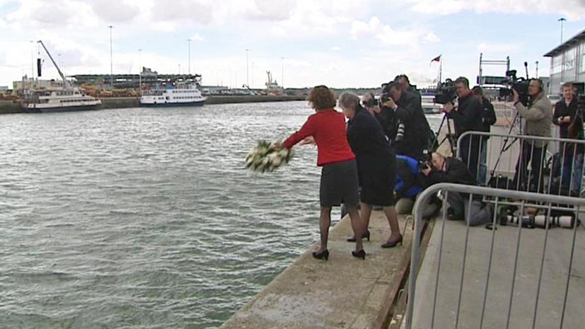 Pietní akce v Southamptonu k výročí vyplutí Titaniku