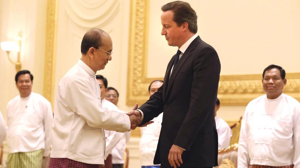 David Cameron v Barmě
