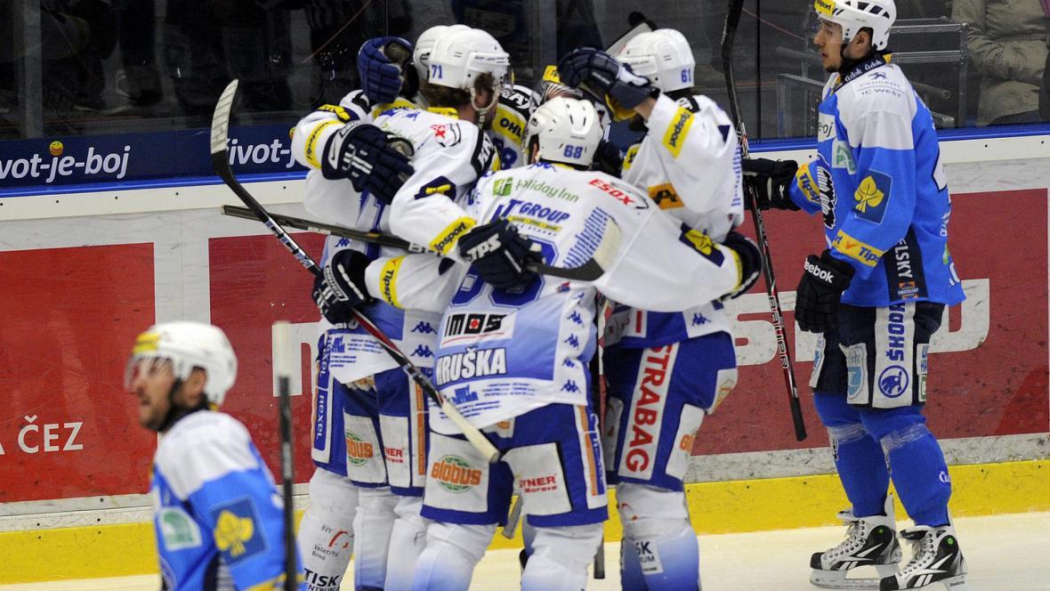 Radost hokejistů Komety Brno