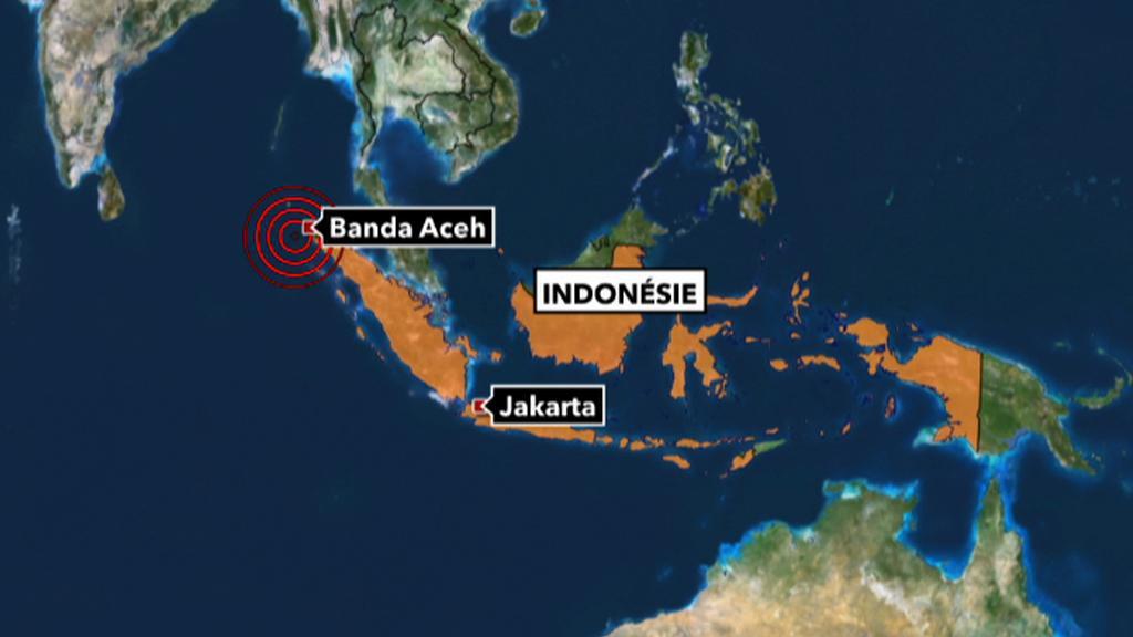 Epicentrum zemětřesení u Acehu