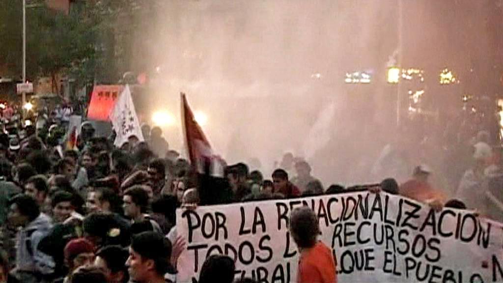 Protest chilských ekologických aktivistů