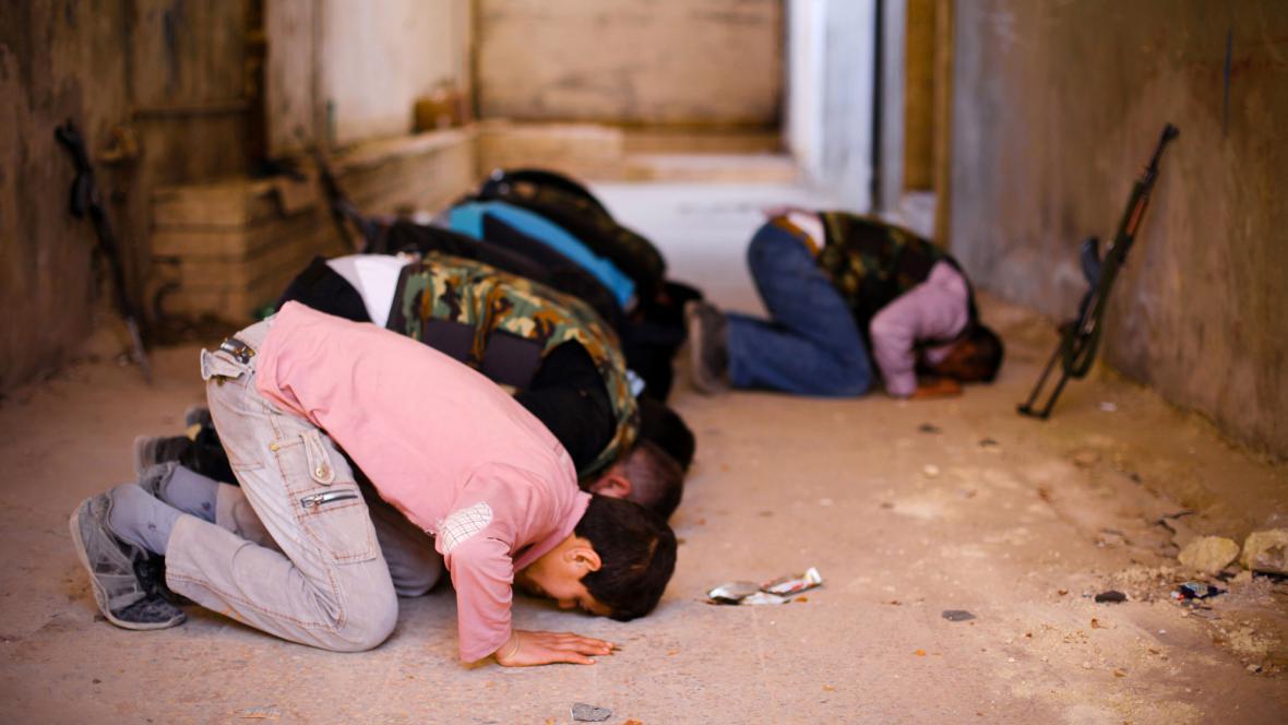 Modlitba v Sýrii
