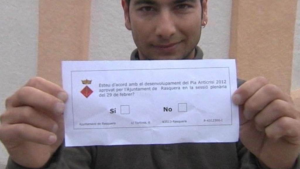 Rasquera - hlasovací lístek