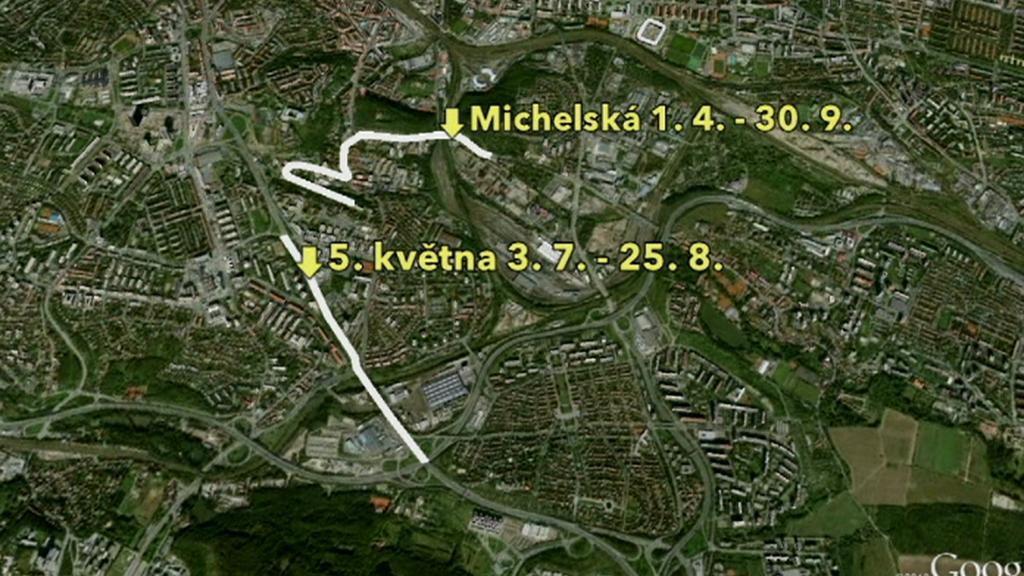 Letní uzavírky v Praze