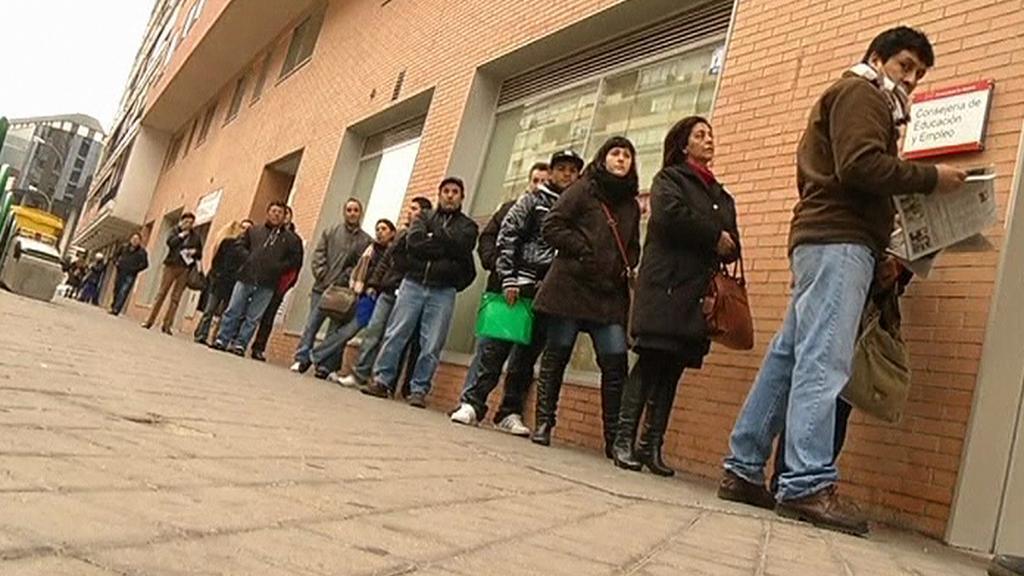 Fronty na úřadu práce ve Španělsku