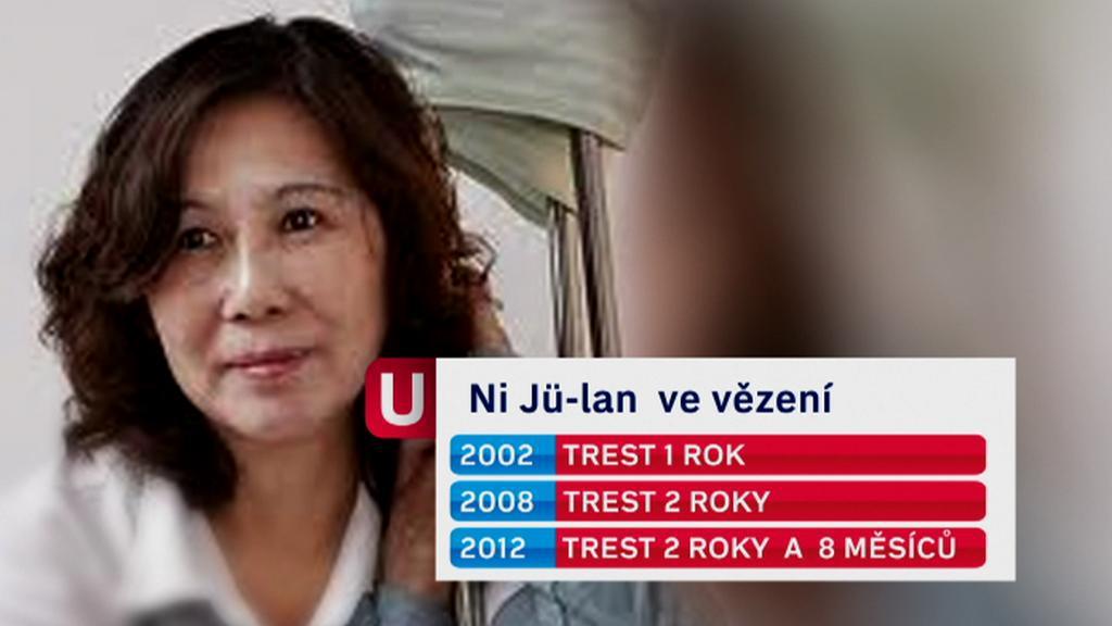 Čínská aktivistka Ni Jü-lan