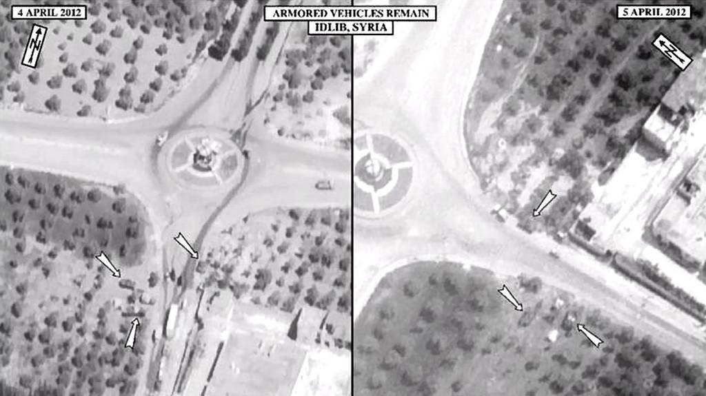 Satelitní snímky Sýrie