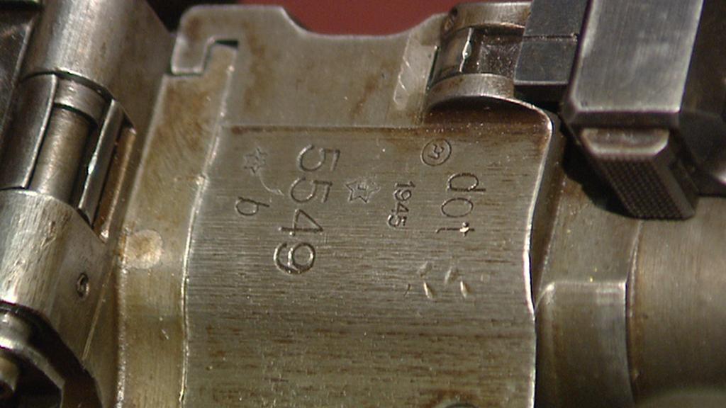 Detail kulometu MG-34