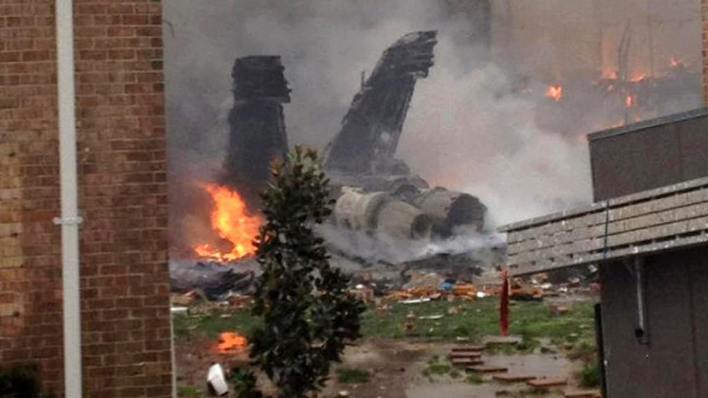 Nehoda vojenského letounu ve Virginii