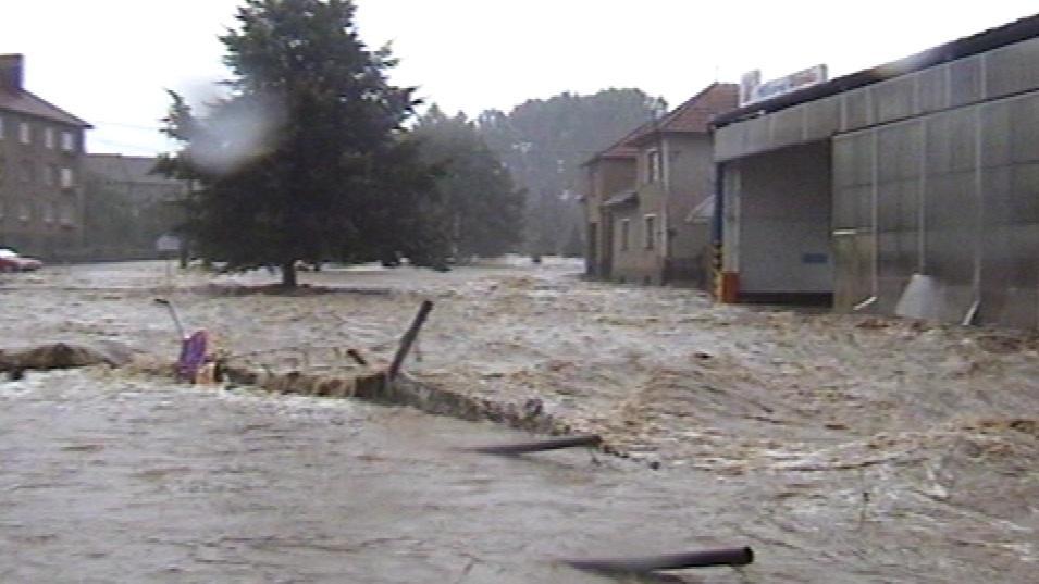 Záplavy v Olešnici před 10 lety