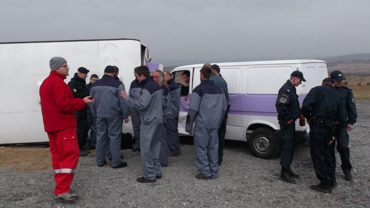 Cvičení simulovalo situaci, kdy by havaroval autobus s vězni