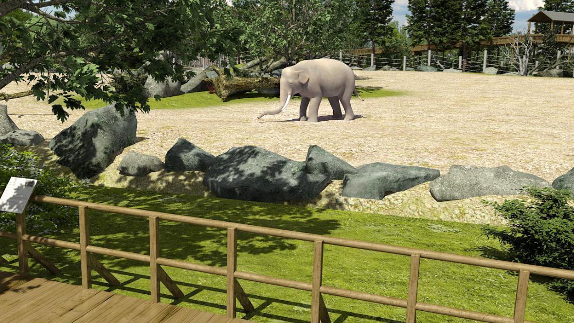Nový pavilon slonů