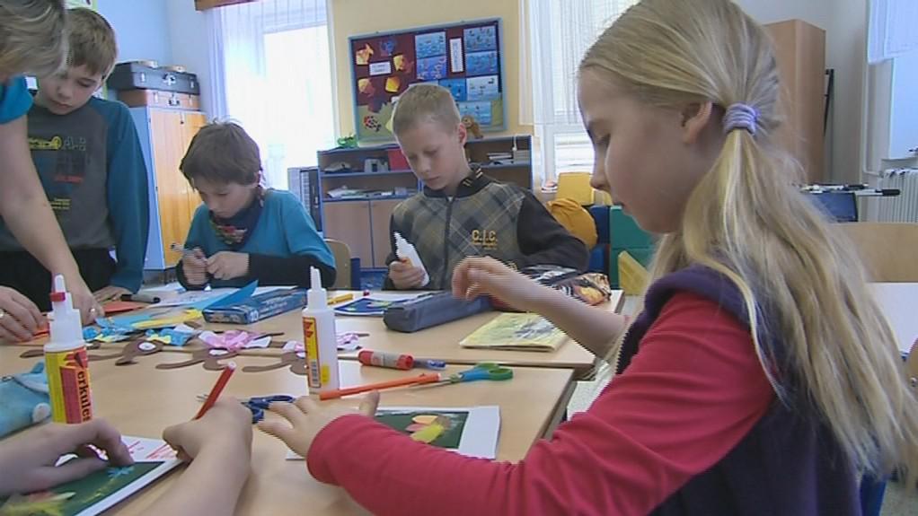 Děti v základní škole v Tupesích