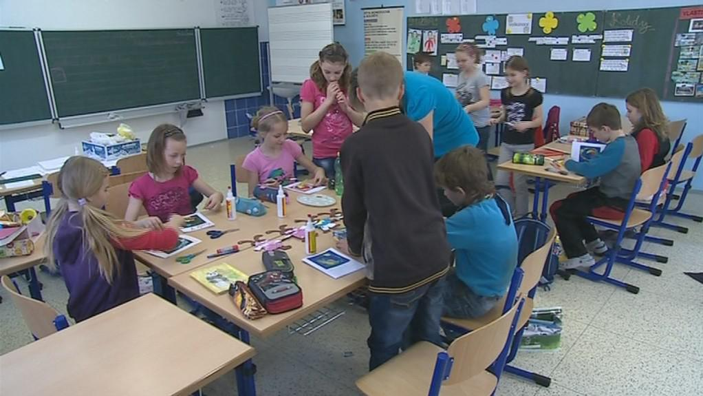 Děti ve třídě základní školy v Tupesích