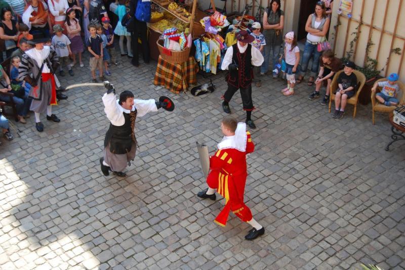Šermíři na zámku v Mníšku pod Brdy