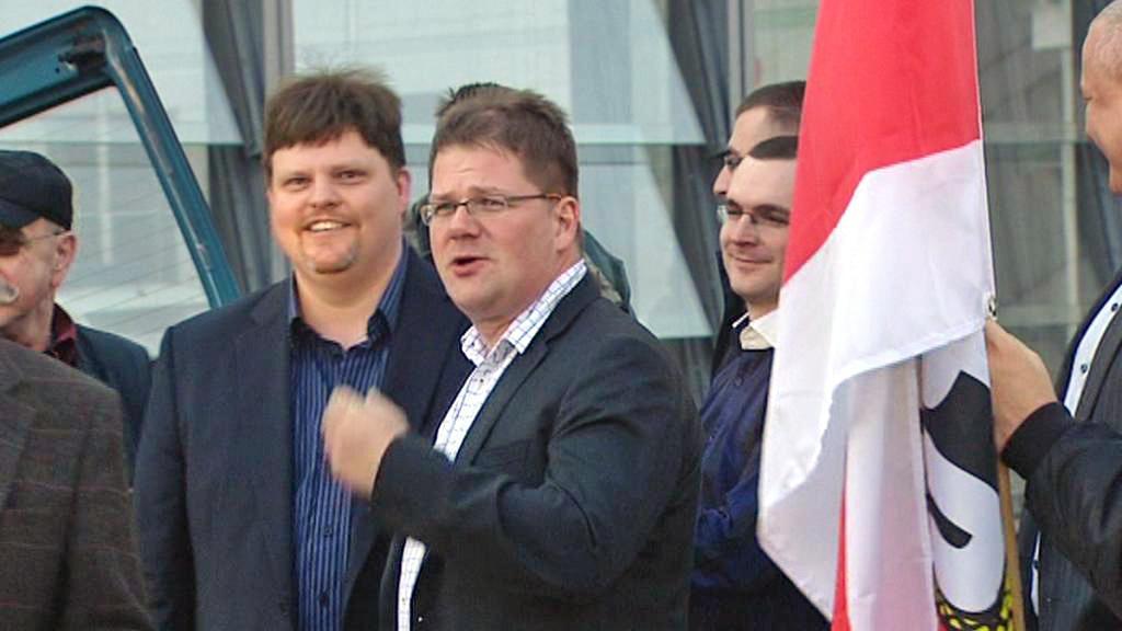 Šéf NPD Holger Apfel
