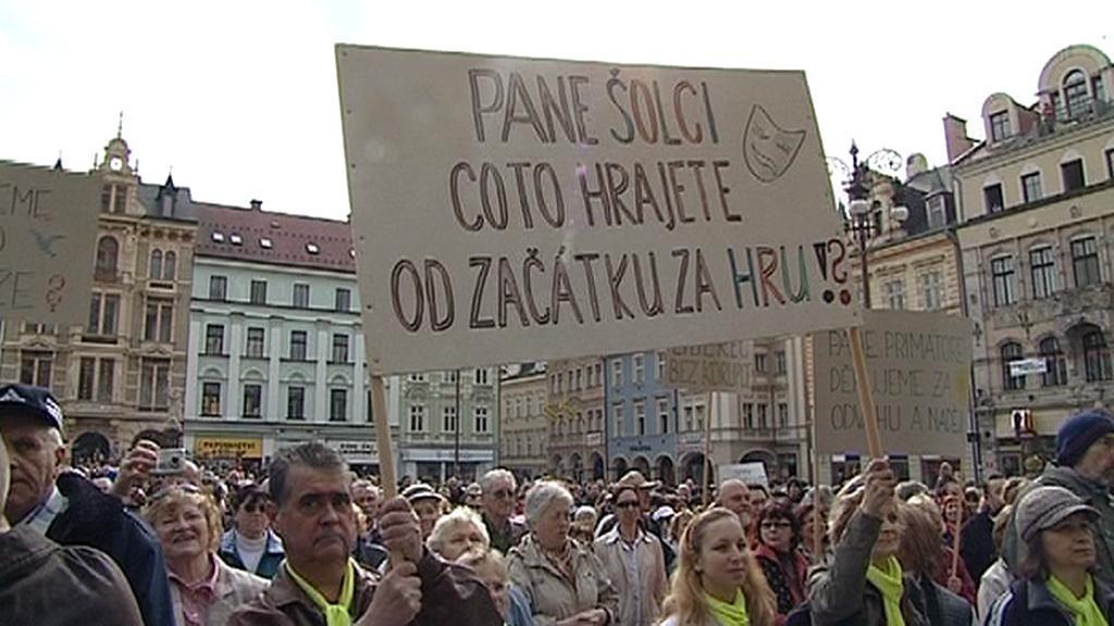 Protesty v Liberci