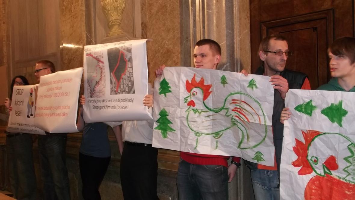 Protest obyvatel Kohoutovic