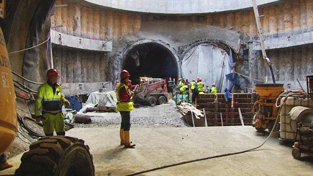 Ražba tunelu trasy A pražského metra