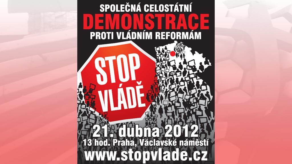Leták platformy Stop vládě