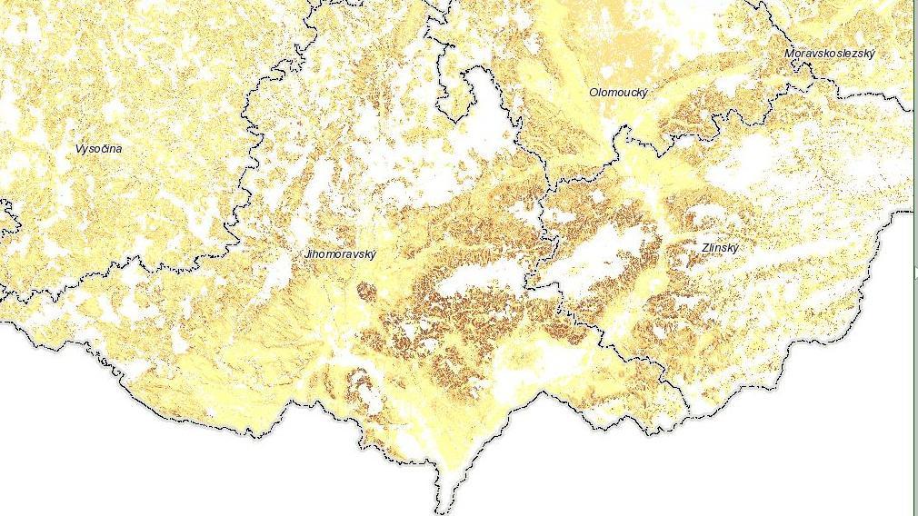 Ohrožení jižní Moravy a Zlínska vodní erozí
