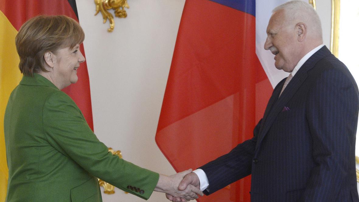 Merkelová s Klausem