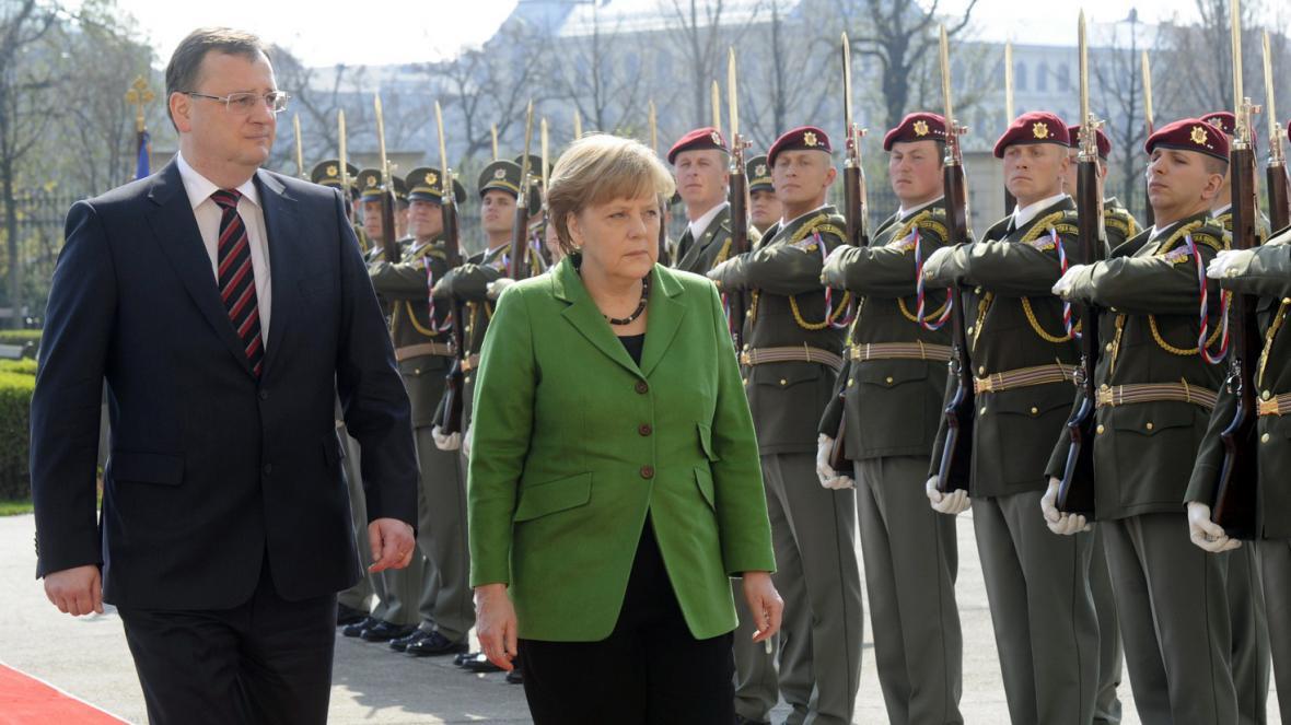 Petr Nečas a Angela Merkelová