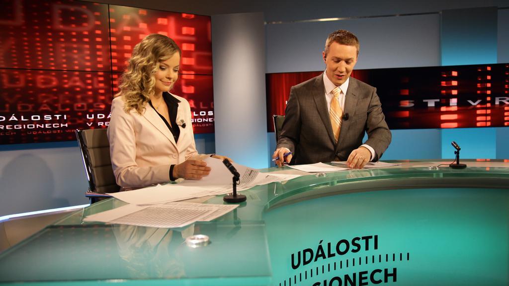 Kristina Kačmarská a Pavel Janošec v novém studiu