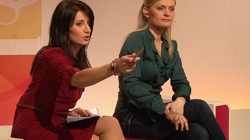 Soňa Šuláková s moderátorskou kolegyní Terezou Stýblovou
