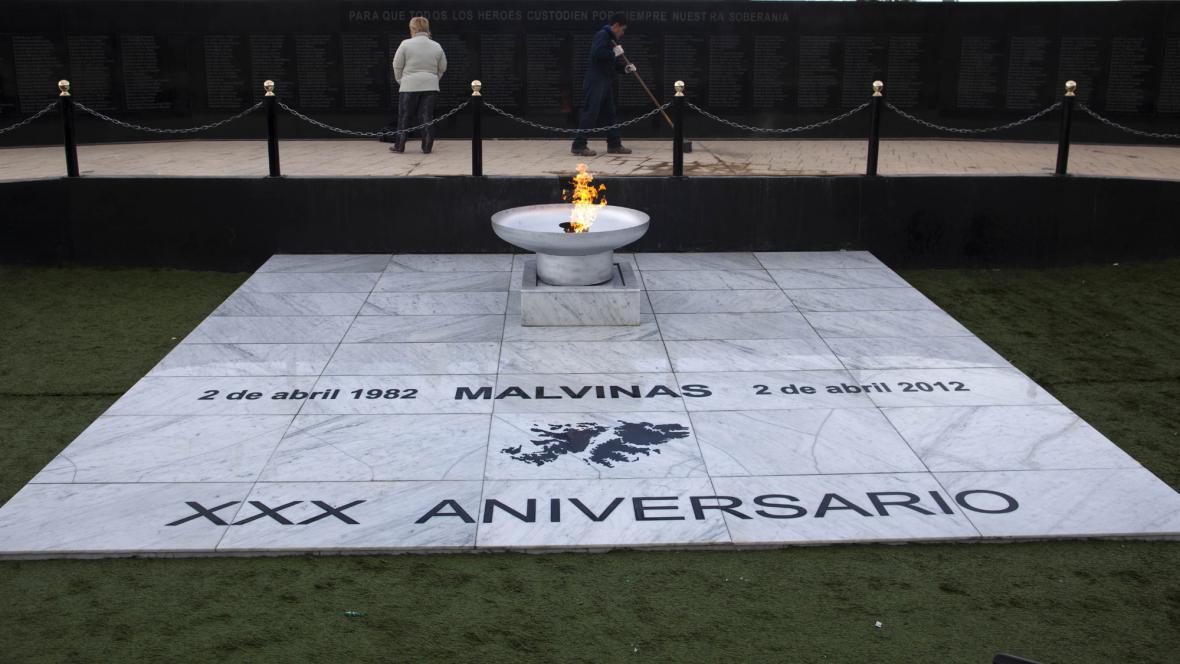 Připomínka výročí války o Falklandské ostrovy