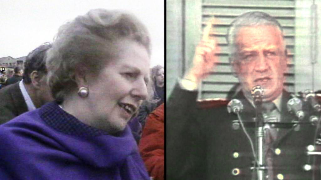 Margaret Thatcherová a Leopold Galtieri