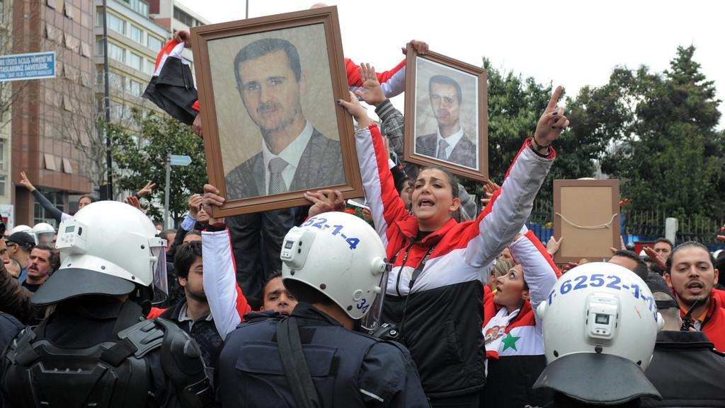 Stoupenci syrského prezidenta Bašára Asada