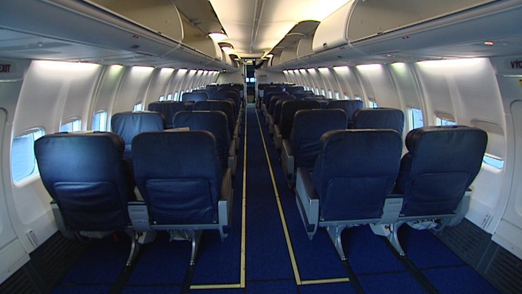 Kožená sedadla v letadle